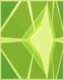 Abstract green and yellow. Illustration Royalty Free Stock Image