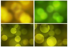 Abstract green yellow background. With bubble or circle designs Royalty Free Stock Image
