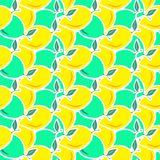 ABSTRACT GREEN AND YELLOW LEMON SLICE SEAMLESS VECTOR PATTERN. FRESH SUMMER FEELING PATTERN. LEMON. JUICY AND FRESH. SEAMLESS VECTOR PATTERN. SUMMER FEELING Stock Images