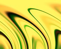 Abstract green yellow phosphorescent colors and background. Lines in motion. Abstract colors and lines in motion, green, orange, phosphorescent, dark, yellow Stock Illustration