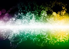 Abstract green yellow purple color bokeh wallpaper Royalty Free Stock Photo