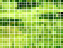 Abstract green and yellow square mosaic background Royalty Free Stock Photos