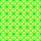 Abstract green and yellow tile pattern. Texture background. Seamless illustration. Royalty Free Stock Photography