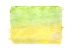 Abstract green / yellow watercolor background Stock Images