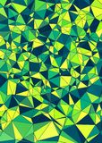 Abstract greenery polygonal background Stock Photo