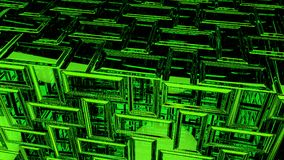 Abstract green background 3D rendering. Abstract greenhighlights, 3D computer rendering a brilliant generation of glass surface stock illustration