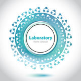 Abstract greenish medical laboratory element. Abstract greenish medical laboratory circle element Stock Images