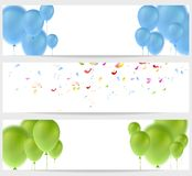 Abstract greeting banners Stock Photos