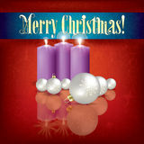 Abstract greeting with candles and decorations Stock Photo