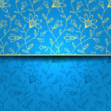 Abstract greeting card, background with flowers. Greeting card for your design stock illustration