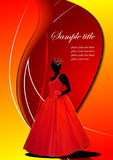 Abstract greeting card with bride image Royalty Free Stock Photo
