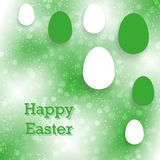 Abstract greeting card for Easter with eggs Royalty Free Stock Photography