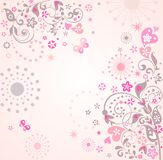Abstract greeting card. Greeting card with abstract floral pattern Stock Image