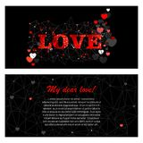 Abstract greeting card for valentine day vector illustration