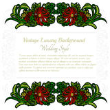 Abstract greeting or card white background with plant flower pattern Royalty Free Stock Image