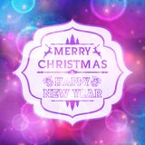 Abstract greeting with Christmas and New Year. Background for Christmas Stock Photography