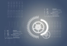 Abstract grey background with cogs Royalty Free Stock Image