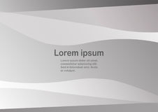 Abstract grey background with copy space for text. Curve template in black and white tone. Web banner design Royalty Free Stock Images