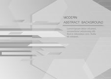 Abstract grey background with copy space for text. Modern graphic design for book cover. Vector element. Geometric template for presentation Royalty Free Stock Photography