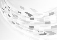 Abstract grey background with curve light Stock Photos