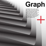 Abstract grey background with geometry Stock Photography