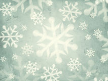 Abstract grey background with snowflakes Stock Photography