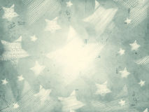 Abstract grey background with striped stars. Abstract grey background with illustrated striped stars, retro christmas card Stock Photography