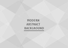 Abstract grey background with text space. Polygon template Stock Photo