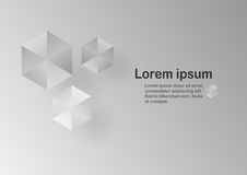 Abstract grey background with text space. Polygon template in black and white tone. Web banner design Stock Photo