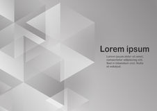 Abstract grey background with text space. Polygon template in black and white tone. Web banner design Royalty Free Stock Photo