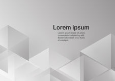 Abstract grey background with text space. Polygon template in black and white tone. Web banner design Stock Photos