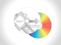 Abstract grey based cd cover pack design Royalty Free Stock Photo