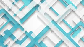 Abstract grey blue paper cut stripes corporate motion background stock video footage