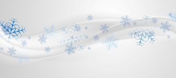 Abstract grey blue wavy Christmas background Royalty Free Stock Photography