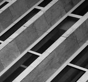 Abstract grey building Royalty Free Stock Image