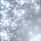 Abstract grey Christmas bokeh background. Stock Photos