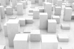 Abstract grey city Royalty Free Stock Images