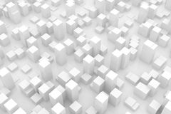 Abstract grey city. Wide view of an abstract grey city Stock Images