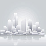 Abstract grey city background stock illustration