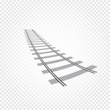 abstract grey color railway road on checkered background, ladder vector illustration Stock Images