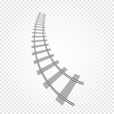 abstract grey color railway road on checkered background, ladder vector illustration Royalty Free Stock Photos
