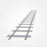 abstract grey color railway road on checkered background, ladder vector illustration Royalty Free Stock Photography