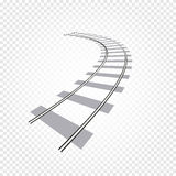 abstract grey color railway road on checkered background, ladder vector illustration Royalty Free Stock Images