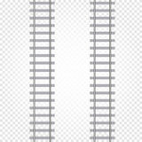 abstract grey color railway road on checkered background, ladder vector illustration Stock Photo