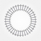 abstract grey color round shape railway road on checkered background, fencing vector illustration Royalty Free Stock Image