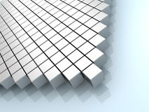 Abstract grey cubes background. 3d vector illustration