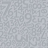 Abstract grey extruded random numbers seamless Royalty Free Stock Images