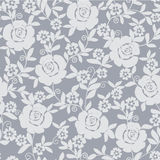Abstract grey floral background Stock Image
