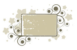 Abstract grey floral banner Stock Photos