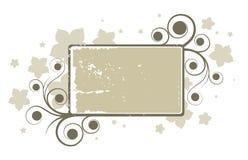 Abstract grey floral banner Stock Photos
